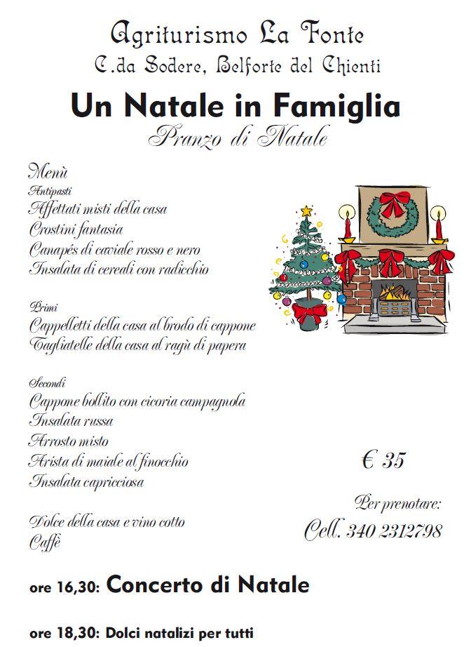 Menu Di Natale In Casa.Pranzo Di Natale Nelle Marche Agriturismo La Fonte